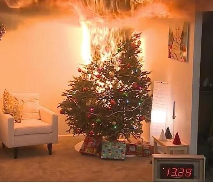Fire Damage Tips to avoid Christmas tree fires